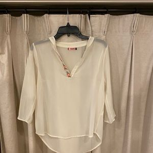 Jella Couture 3/4 Sleeve Blouse Sz M